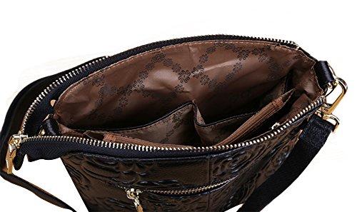 Genda 2Archer Floreale Cross Body Bag Ogni giorno Piccolo Borsa da viaggio (Nero) Nero