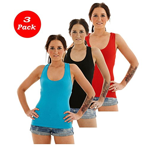 Ladies Sports Back Stretch Sleeveless Vest (Pack of 3)