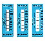 TESTO 057526 Thermomètre pastille, plage de température + 71 + 110 degré C (Pack de 50)