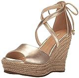 UGG Damen - Keil-Sandalette REAGAN METALLIC - gold, Größe:37 EU  - 511SCe3Da3L - Trend Ugg Boots: Bequem vs. Chic | Sat.1 Frühstücksfernsehen