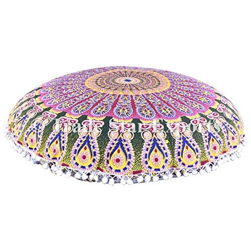 Gran indio Ombre Mandala piso cojines, manta decorativa fundas de almohada de 32