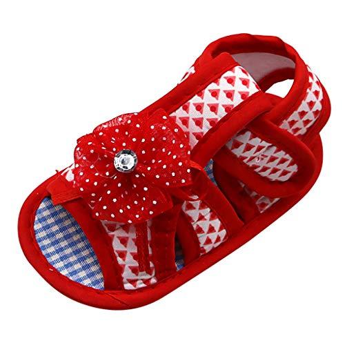 Jaysis Applique Weiche Untere Sandalen Baby Mädchen Blume Schuhe Outdoor Sneaker Anti-Rutsch-Weiche Taufe Prinzessin Lauflernschuhe Sneaker für Kleinkind -
