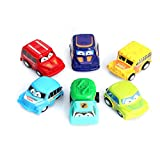 Autone 6pcs Classic Boy&Girl Truck Vehicle Kids Child Toy, Mini Small Pull Back Car New