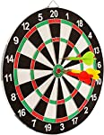 """Sunlin Double Sided Dart Board Game - With 6 Darts - Size 12"""""""
