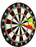 #7: Sunlin Double Sided Dart Board Game - With 6 Darts - Size 12