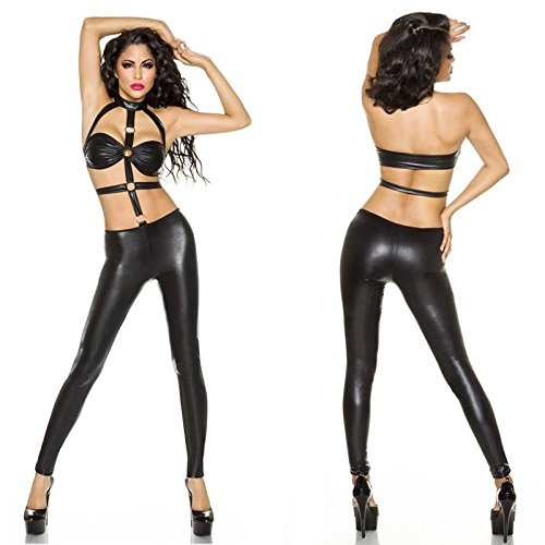 RUISISANLI Black Open Hot Sexy Women Zentai Latex Catsuit