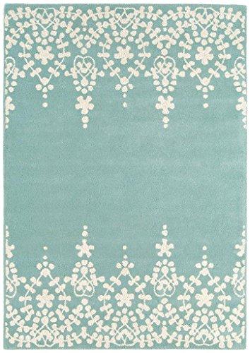 Guild Kunden (Teppich Wohnzimmer Carpet modernes Design MATRIX GUILD BLUMEN RUG 100% Wolle 200x300 cm Rechteckig Blau | Teppiche günstig online)