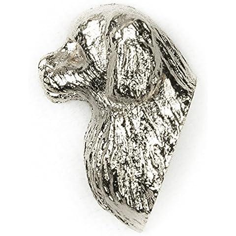 Spaniel del Tibet Hecho en Reino Unido Artístico Perro Pin Insignia Colección