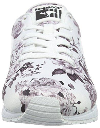 KangaROOS Damen Coil-r Flower Sneaker Mehrfarbig (white/lt Grey 002)