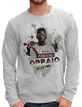Felpa Girocollo BELLO FIGO NON FACCIO OPRAIO NON PAGO AFFITTO - FAMOSI by Mush Dress Your Style