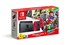 Nintendo Switch - Red with Super Mario Odyssey code