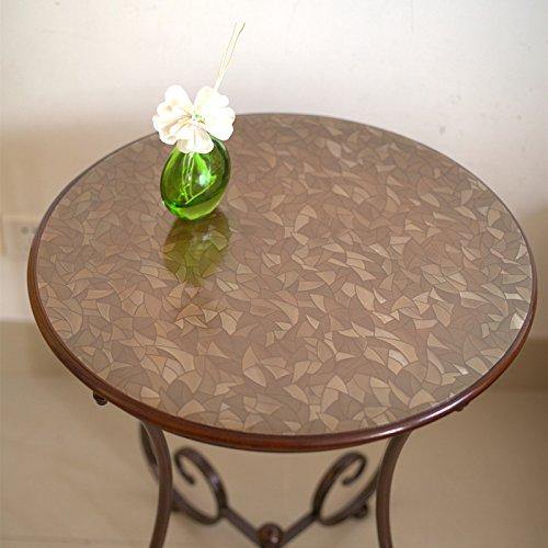 Table ronde en PVC imperméable Nappe transparente Plaque en verre givré en verre souple film de table Le diamètre de 50,60,70,80,90,100 cm , 5 , 60cm