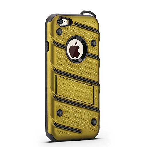 Ultra Thin Slim Dual Layer PC + Soft TPU Back Schutzhülle Fall [Shockproof] mit Kickstand für iPhone 6 / 6s ( Color : Gold ) Green