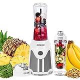 Duronic Blender BL505 | Blend & Go Smoothie Maker | Personal Blender | Tritan Bottle | BPAFree | 500W | Blend Fruit, Vegetables, Herbs | Mix Protein Shakes | Includes 2x 600ml Bottles Plus Infuser