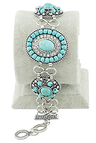 SaySure - Oval Turquoise Beads Classical Bracelets