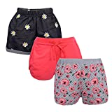 #6: Gkidz Girls Pack of 3 Embroidered Printed and Solid Shorts Combo(JG-3PCK-SHRT-001-002-003-CMB2_MultiColor)
