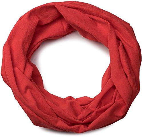 styleBREAKER Jersey Multifunktionstuch, Schlauchtuch, Stirnband, Haarband, Kopftuch, Loop Schlauchschal, Unisex 01012037, Farbe:Tomaten-Rot (Jersey Tomaten)