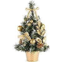 Árbol de Navidad de mesa, Moresave comedor Escritorio de oficina Pequeñas decoraciones de árboles de Navidad