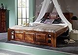 MASSIVMOEBEL24.DE Kolonial Bett 140x200 Akazie massiv Holz Oxford Classic #251