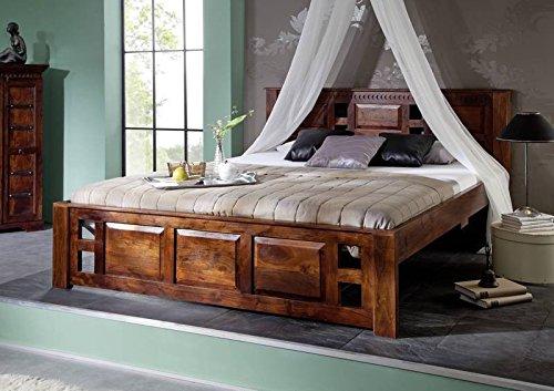 MASSIVMOEBEL24.DE Bett im Kolonialstil aus Massivholz #251 | Oxford Classic 140x200