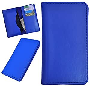 DCR Pu Leather case cover for Spice Stellar Fire One (blue)