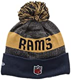 New Era Men's NFL Sideline Bobble Knit Rams Beanie