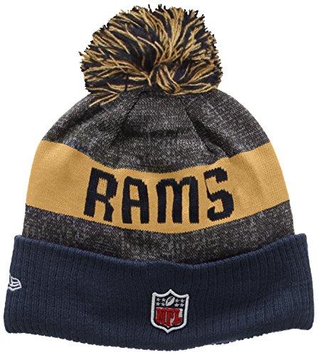 New Era Nfl Sideline Bobble Knit Rams, Cuffia Uomo, Multicolore (Team), Taglia Unica (Taglia Produttore: One Size)