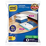#2: 9 Vacuum Storage Bags - SmartSavers Space Saver Bags (Lifetime Replacement Guarantee), Variety Pack 3X Jumbo, 3X Large, 3X Medium