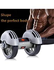 Heavy Duty Doble Ruedas Ab Roller fitness equipo Carver ABS Abdominal entrenador interior y exterior para máquina de ejercicio