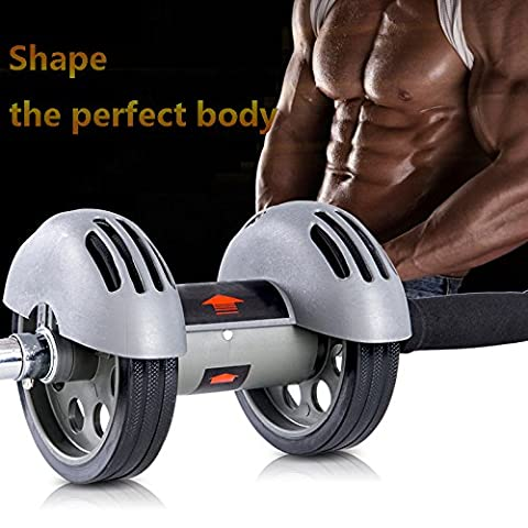 Heavy duty Dual Wheels Ab Roller Fitness Equipment Abdominal Carver