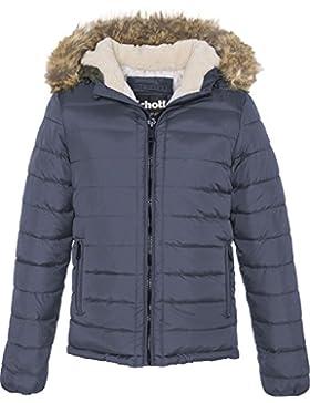 Schott NYC Quilted Hooded - Abrigo de plumas para hombre