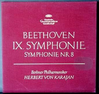 Beethoven 9 Symphonie (Sinfonie) , Symphonie Nr. 8. Karajan. 2 Vinyl LP Box.
