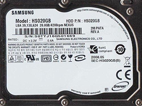 HS020GB, HS020GB, REV A, Samsung 20GB ZIF 1.8 Disco Duro - 20 Gb-notebook