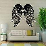zzlfn3lv Alas de ángel Etiqueta de la Pared Plumas de Vinilo Etiqueta engomada del Vinilo Espiritual murales Inspirada Etiqueta del Coche decoración de Interiores 45 * 42 cm