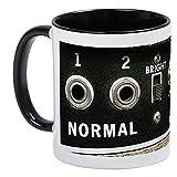 CafePress–Vintage Ampli basse Panneau de commande–Unique Mug à café, tasse à café, tasse à thé, White/Black Inside, Small