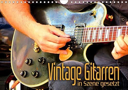 Vintage Gitarren in Szene gesetz...