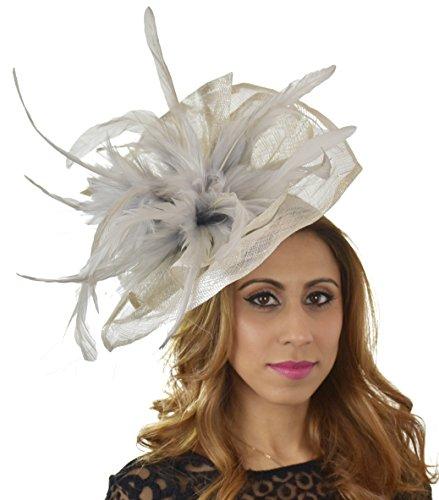 Superbe velidhoo Grand Ascot Derby Bibi Chapeau–avec bandeau–Disponible en 30couleurs Violet - Prune