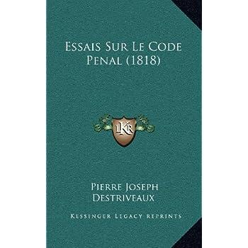 Essais Sur Le Code Penal (1818)