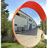 JCM-80o miroir convexe de la circulation, incassable, diamètre 80 cm, pour la sécurité routière et de la sécurité du magasin, avec support de fixation réglable pour la pole 76 mm