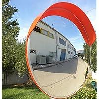 JCM-80o Convesso specchio infrangibile traffico, diametro 80 cm, per la sicurezza stradale e la sicurezza negozio con staffa di fissaggio regolabile per palo 76 mm