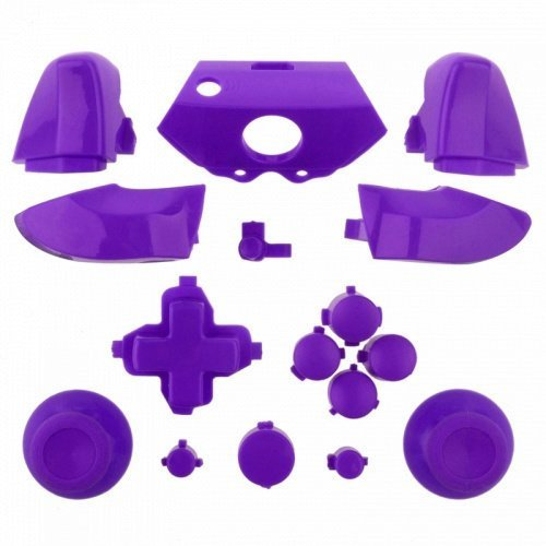 HFOVER REPAIR REPLACEMENT Chrome PURPLE Dpad Triggers Full Buttons Set Kits Controller Mod for Xbox One by HFORVER Mod-button