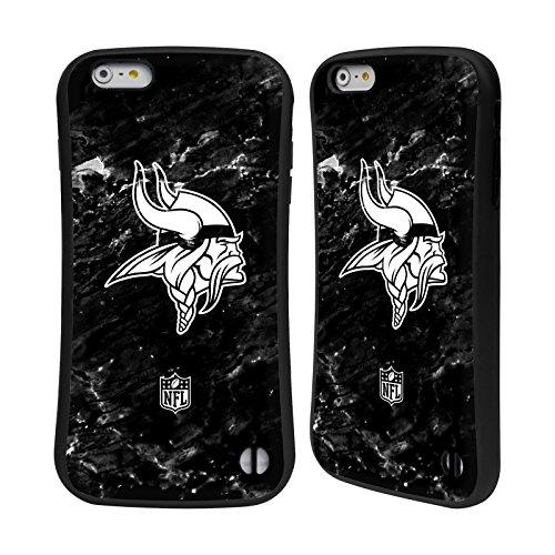 Ufficiale NFL LED 2017/18 Minnesota Vikings Case Ibrida per Apple iPhone 7 Plus / 8 Plus Marmo