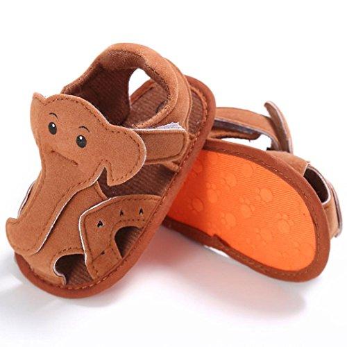 Igemy Baby Säugling Kinder Mädchen Jungen Weiche Sohle Krippe Kleinkind Neugeborenes Sandalen Schuhe (1, Brown) (Kleinkind-brown-leder-schuhe 1)
