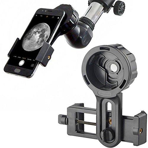Adaptador Universal para teléfono Celular, Smartphones, fotografía rápida, Conector de Montaje para telescopio, prismáticos, monoculares, microscopio y con teléfono móvil (Adaptador)