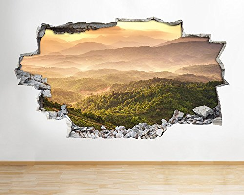 b144-mountains-forest-trees-nature-valley-scenic-wall-decal-poster-3d-art-sticke-medium-52x30cm