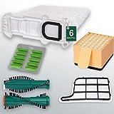 6 Vlies Staubsaugerbeutel/Filtertüten, Filterset, Ersatzbürsten EB351 und Duft, passend für VK 135