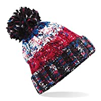 ASVP Shop Corkscrew Cable Knitted Bobble Hat Plain Mens Womens Beanie Warm Winter Pom Wooly Cap