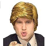 Beito Lustige Donald Trump Perücke für Halloween Special President Trump Kostüm Haare und Perücken für Männer