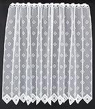 Scheibengardine Quadrate 120 cm Hoch | Breite der Gardine durch gekaufte Menge in 11,5 cm Schritten wählbar (Anfertigung Nach Maß) | weiß | Vorhang Küche Wohnzimmer
