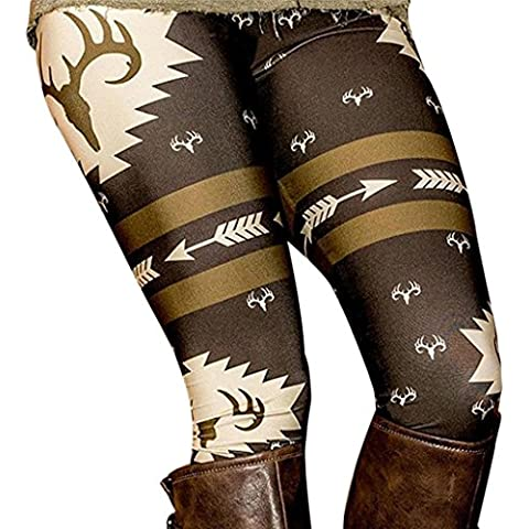 Pantalones mujer deporte Sannysis pantalón de navidad